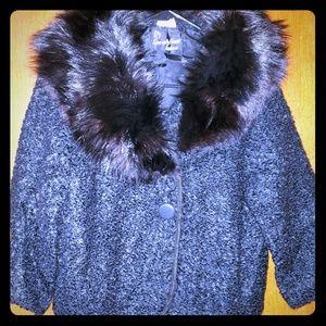 Vintage Bolero Jacket w/ Furry Collar
